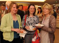 Dr Bridín Cannon, Dr Mary Conlon and Dr Catherine O'Malley attend the exhibition at the AGM