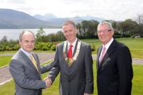 Prof Seán Tierney, Dr Ronan Boland and Mr George McNeice
