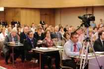 Delegates attend the address by Dr James Reilly, T.D, Minister for Health