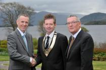 Drs Ronan Boland and Paul McKeown with Chief Executive George McNeice