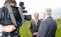 Prof Seán Tierney is interviewed for RTE Television