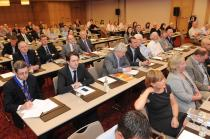 Delegates listen to Mr George McNeice's address