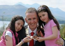 Dr Ronan Boland with two of his daughters, Sorcha and Aisling