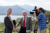 Dr Ronan Boland is interviewed by Mr Fergal Bowers, RTE Health Correspondent