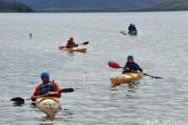 Kayaking on Lough Lein, IMO AGM 2012