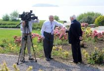 Dr Tony Healy is interviewed for RTE Television